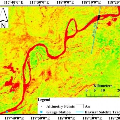 Estimation of river discharge from remote-sensing derived data